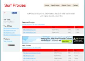 Surfproxies.com thumbnail