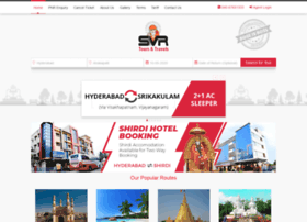 Svrtravels Com At Wi Welcome To Svr Tours Amp Travels