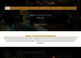 Tattoofontmaker.com thumbnail