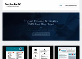 Templatesforcv.com thumbnail