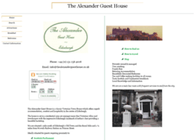 Thealexanderguesthouse.co.uk thumbnail