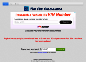 Thefeecalculator.com thumbnail