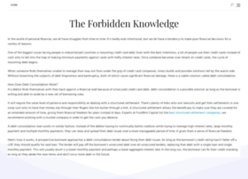 Theforbiddenknowledge.com thumbnail