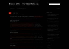 hidden wiki link