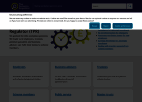 Thepensionsregulator.gov.uk thumbnail