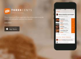 threecentsapp.com at WI. Three Cents