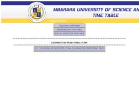 Timetables.must.ac.ug thumbnail