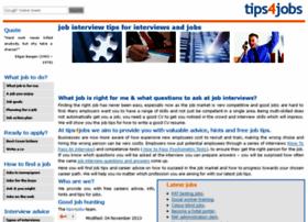 Tips4jobs.co.uk thumbnail