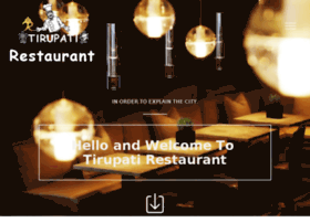 Tirupatirestaurant.co.in thumbnail