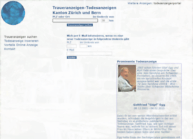 Todesanzeigen-umkreis.ch thumbnail