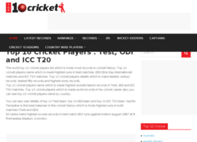 Top10cricketplayers.com thumbnail