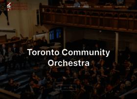 Torontocommunityorchestra.org thumbnail
