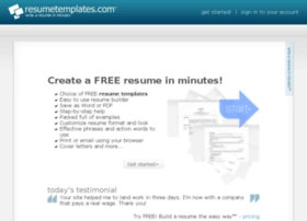 totalresume com at wi resumetemplates com free resume templates