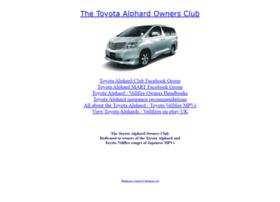 Toyotaalphardclub.co.uk thumbnail