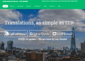 Translations123.com thumbnail