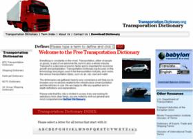 Transportation-dictionary.org thumbnail