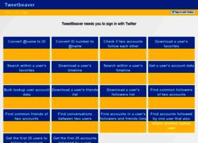 Tweetbeaver.com thumbnail