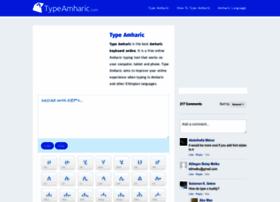 typeamharic.com at WI. Type Amharic - Amharic Keyboard, Type in ...