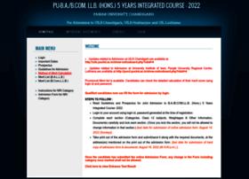 Uglaw.puchd.ac.in thumbnail