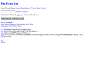 the pirate bay onion