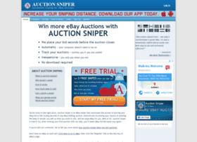 Uk Auctionsniper Com At Wi Auction Sniper Ebay Sniper And Ebay Bidding Snipe Bid Sniping For