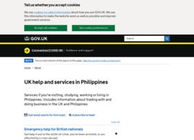Ukinthephilippines.fco.gov.uk thumbnail
