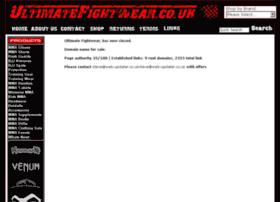 Ultimatefightwear.co.uk thumbnail