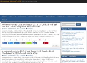 Universityresults2018.in thumbnail