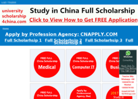 Universityscholarship4china.com thumbnail