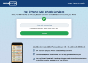 unlockspector com at WI  iPhone IMEI Unlock Check Instant Report