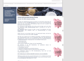 Unternehmensberatung-pump.de thumbnail