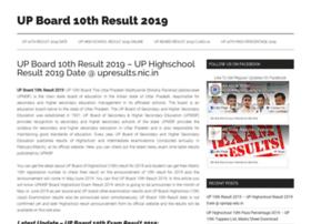 Upboard10thresult2019.in thumbnail