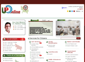 uponline.up.nic.in at WI. e-Services Portal of Uttar Pradesh