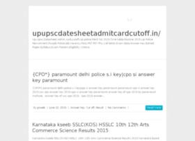 Upupscdatesheetadmitcardcutoff.in thumbnail