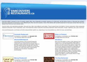 Vancouversrestaurants.ca thumbnail