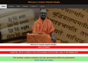 Vedantavidyarthisangha.org thumbnail
