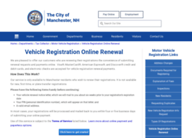 Vehicleregistrationonlinerenewal.manchesternh.gov thumbnail