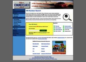 Vinnumbersearch.net thumbnail
