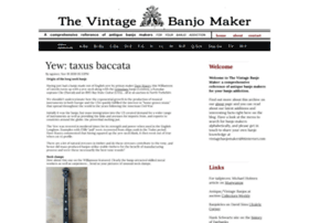 vintagebanjomaker com at WI  Home - Vintage Banjo Makers