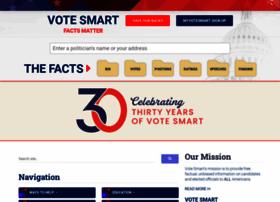 Votesmart.org thumbnail