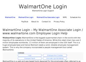 Walmartone-login.com thumbnail
