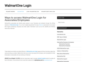 Walmartonelogin.biz thumbnail