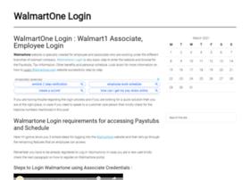 Walmartonelogins.biz thumbnail