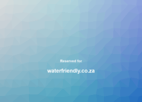 Waterfriendly.co.za thumbnail