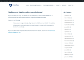 Webaccess.psu.edu thumbnail