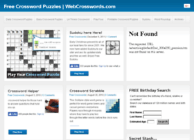 Webcrosswords.com thumbnail