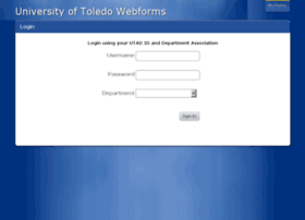 Webforms.utoledo.edu thumbnail