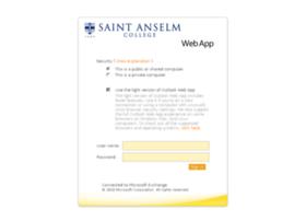 Webmail.anselm.edu thumbnail