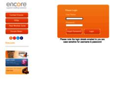 Webportal.encorepersonnel.co.uk thumbnail
