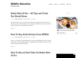 Webproeducation.org thumbnail
